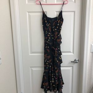 J.Crew Floral Chiffon Dress w belt